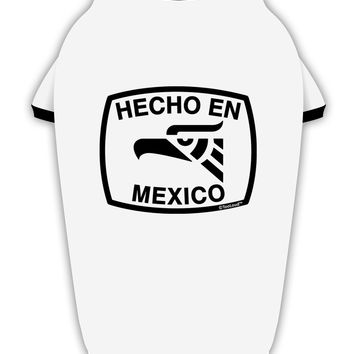 Hecho en Mexico Eagle Symbol with Text Stylish Cotton Dog Shirt by TooLoud