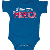 Royal Blue 'Little Miss 'Merica' Bodysuit