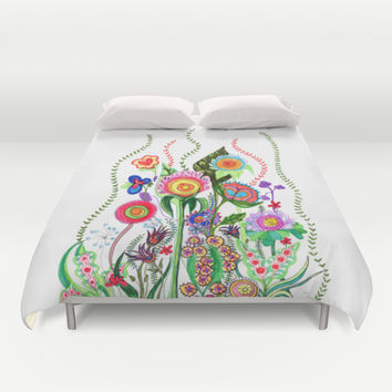FLOWERS IN MEXICO Duvet Cover by Heaven7
