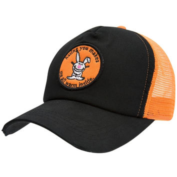 Happy Bunny - Warm Inside Distressed Trucker Cap