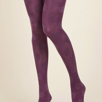 Dressed to Dance Tights in Plum | Mod Retro Vintage Tights | ModCloth.com