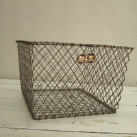 Vintage Metal Wire Gym Pool Locker Storage Industrial basket Berloy 29