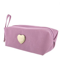 Hearts Thrown Makeup Bag- Pink