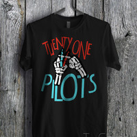 Twenty One Pilots Red Blue Logo - zzLa Unisex T- Shirt For Man And Woman / T-Shirt / Custom T-Shirt