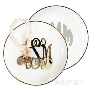 Monogrammed Ring Dish | Marleylilly