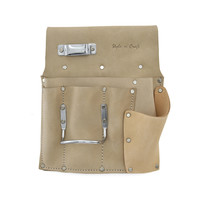 92485L - 6 Pocket Drywall Hanger's Tool Pouch in Top Grain Leather