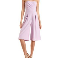 Strapless Culotte Jumpsuit by Charlotte Russe