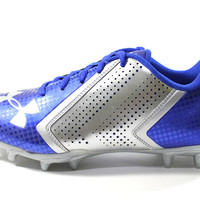 Under Armour Men's Blur Phantom MC Blue/Silver Football Cleats