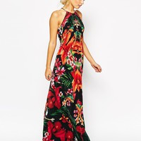 Ted Baker Maxi Dress in Tropical Toucan Print