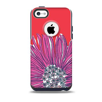 The Artistic Purple & Coral Floral Skin for the iPhone 5c OtterBox Commuter Case