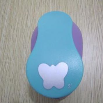 """free shipping 2""""(5.0cm) round butterfly EVA foam punch paper punch for greeting card handmade ,Scrapbook Handmade puncher"""