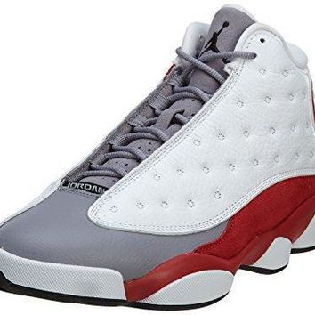 "Nike Mens Air Jordan 13 Retro ""Grey Toe"" Leather Basketball Shoes Jordan 11"