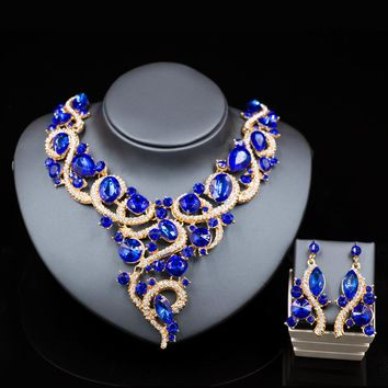 Indian Nigerian beads necklaces golden Set