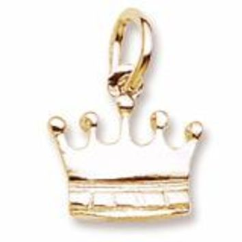Crown Charm In Yellow Gold