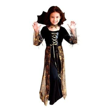 DCCKH6B Girl horror dress up fantasia disfraces Halloween Costumes Children Kids Vampire Cosplay witch Costume game uniforms Vampire gir
