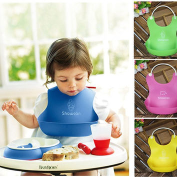 Washable Silicone Baby Feeding Bibs