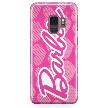 Barbie Pink Logo Cover Samsung Galaxy S9 Plus Case | Casefantasy