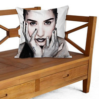 Demi Lovato on Pillow cover by ElegancePerfect