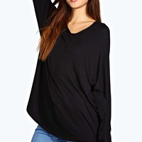 Roxy V Neck Oversized Tee