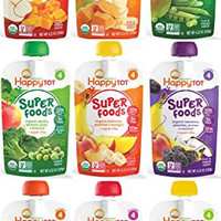 Happy Tot Organic Superfoods Stage 4 Baby Food 9 Flavor Variety Pack (Pack of 9)