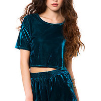 The Velvet Crop in Teal