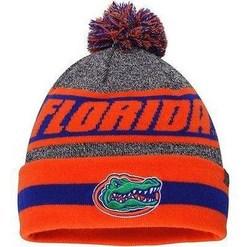 Florida Gators Orange Top of the World Cumulus Cuffed Knit Hat With Pom