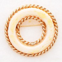 Ivory 12K Gold filled Winard brooch | VintageAnelia - Jewelry on ArtFire