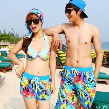 Men Women Lovers Couple Various Beach Surf Board Swim Shorts  2 pairs = 1704212804