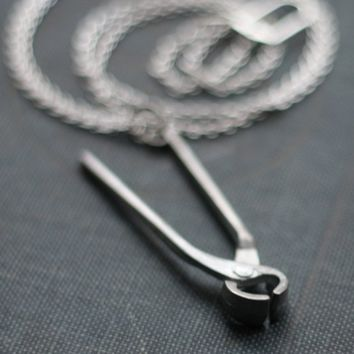 Pliers Hardware Handyman Tool Necklace by contrary on Etsy