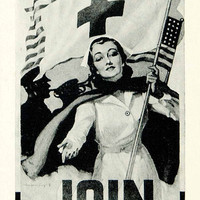 1941 Ad Red Cross Recruitment World War Two Home Front Armed Forces YNM2