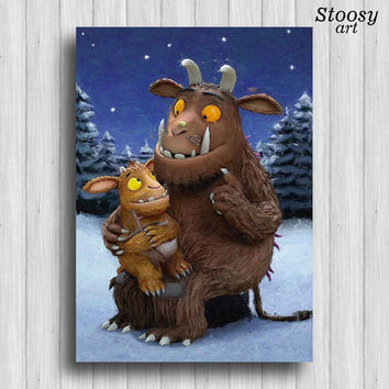 gruffalo and child print childrens gift kids decor nursery wall art