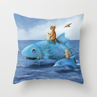 Sea Quest-The Incredible Journey Throw Pillow by Dale Keys | Society6