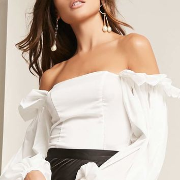 Kikiriki Off-the-Shoulder Crop Top