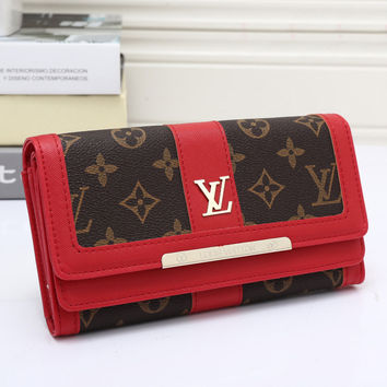 LV Women Leather Wallet Purse