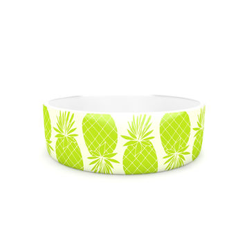 "Anchobee ""Pinya Lime"" Green Pattern Pet Bowl"