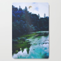 Blue Trees Cutting Board by duckyb