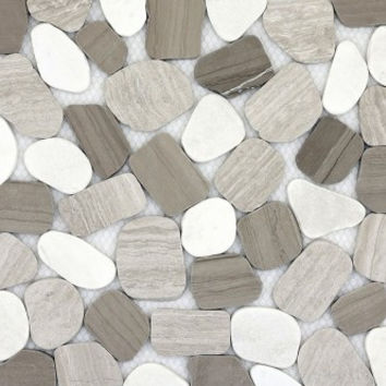 Winter Sliced Pebble Tile