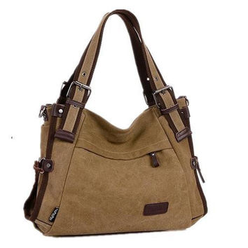 Multicolor Canvas Shoulder Bag