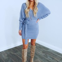 Picture Perfect Dress: Dusty Blue