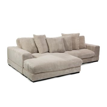 Moe's Home Collection Plunge Reversible Corduroy Sectional Sofa