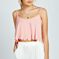 Emma Scallop Edge Crop Cami Top