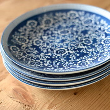 Set Of Four Hand Painted Plates