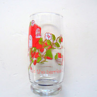 Vintage Strawberry Shortcake Drinking Glass 1980
