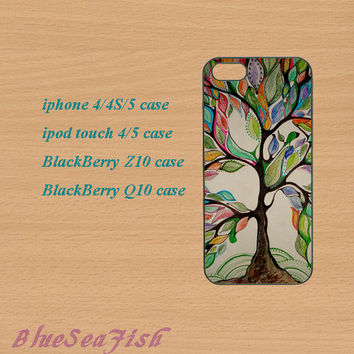 iphone 4 case,iphone 5 case,ipod touch 4 case,ipod touch 5 case,Blackberry z10 case,Blackberry q10 case--tree,in plastic and silicone.