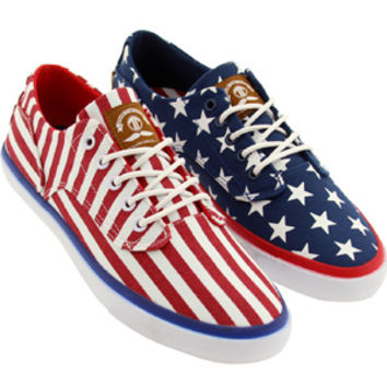 Radii Men Axel (red / white / blue / flag) Shoes FM1052-AMERICA | PickYourShoes.com
