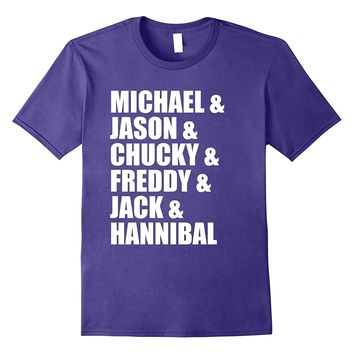 Michael Jason Chucky Freddy Jack Hannibal Role Call Shirt
