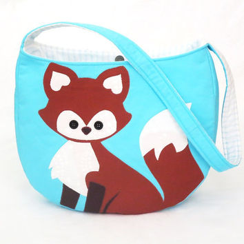 Fox Tote / Bag, immediate download of pdf sewing pattern, free shipping
