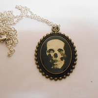 Once Upon A time Fairytale halloween Skull Cameo Necklace