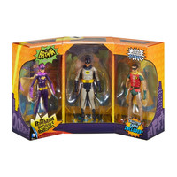 Batman, Robin & Batgirl 1966 Batman Classic TV Series Action Figure 3 Pack Set
