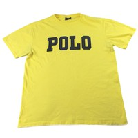 Polo by Ralph Lauren POLO Yellow T-Shirt Mens Size Small